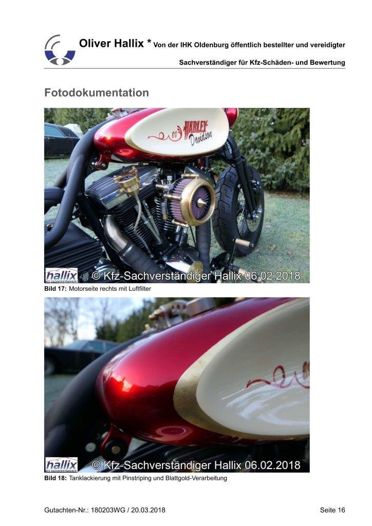 Harley Davidson Wertgutachten Teil 16