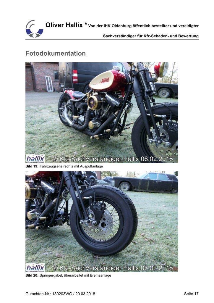 Harley Davidson Wertgutachten Teil 17