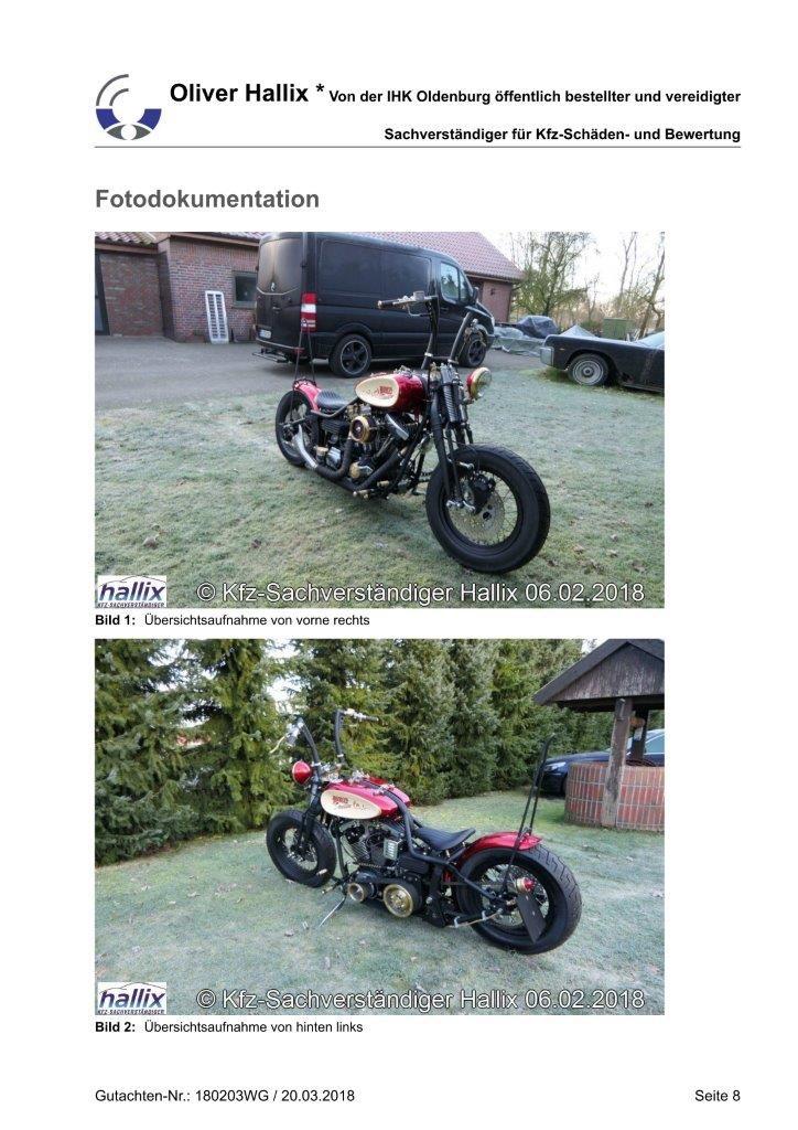 Harley Davidson Wertgutachten Teil 8