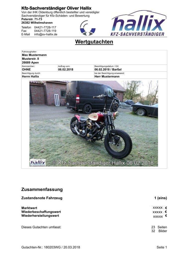 Harley Davidson Wertgutachten Teil 1